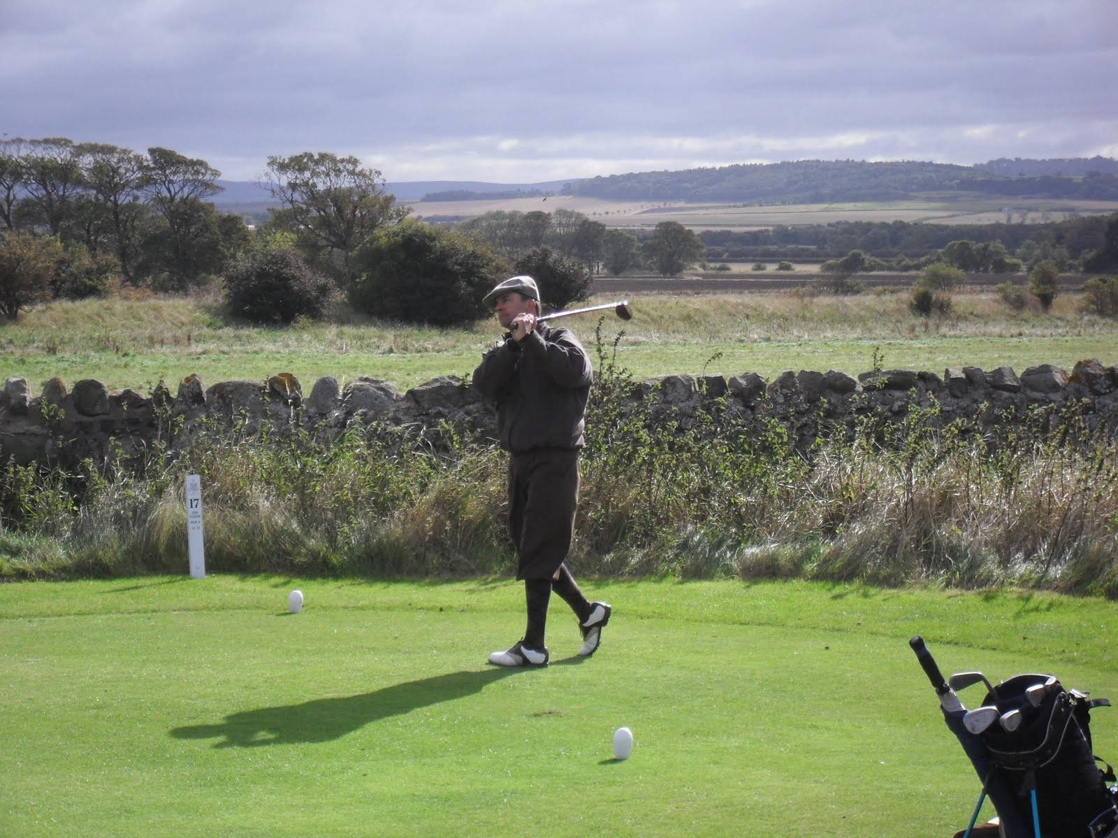 Perry Sommers - Tee Shot on the 17th Gullane no 3.